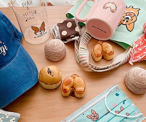 柯基奔月中秋節酥餅禮盒 9入 中秋禮盒,月餅,蛋黃酥,芋頭酥