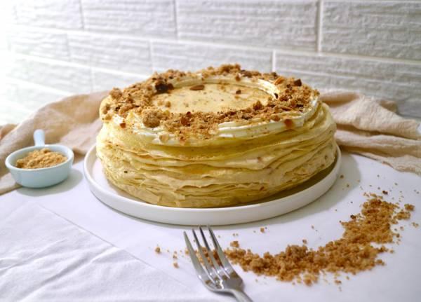 酥菠蘿花生卡士達千層蛋糕 千層蛋糕,花生千層