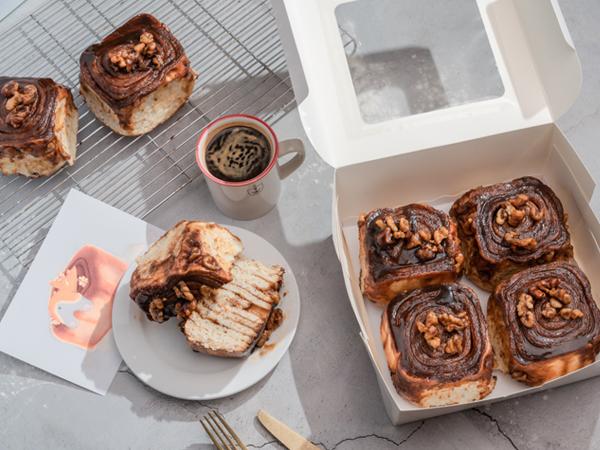 焦糖肉桂捲4入禮盒組 團購,下午茶,伴手禮,肉桂,肉桂捲,肉桂麵包,cinnamonroll,
