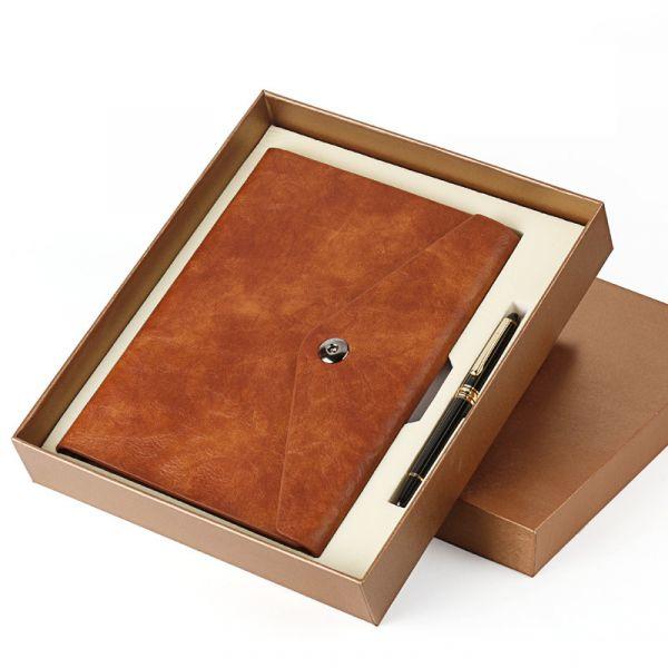 皮面筆記本禮盒