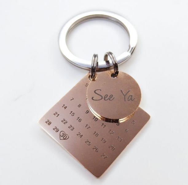 金屬年曆鑰匙圈 金屬年曆鑰匙圈