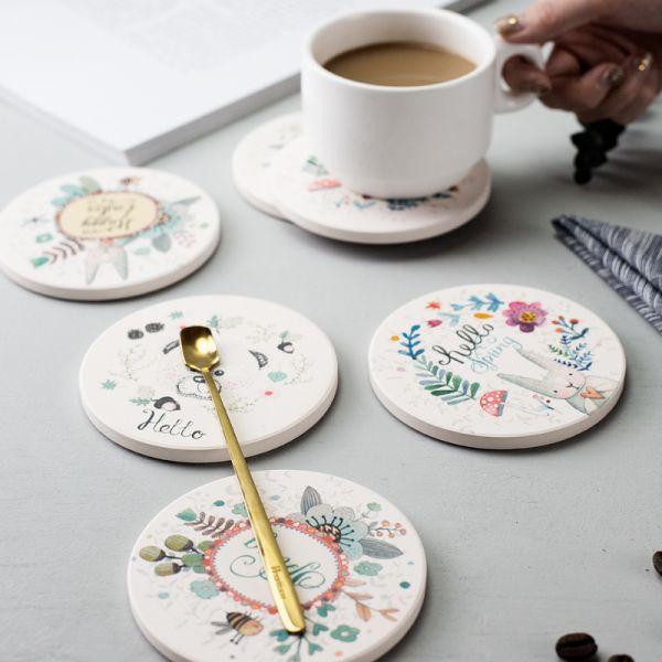 客製化陶瓷吸水杯墊
