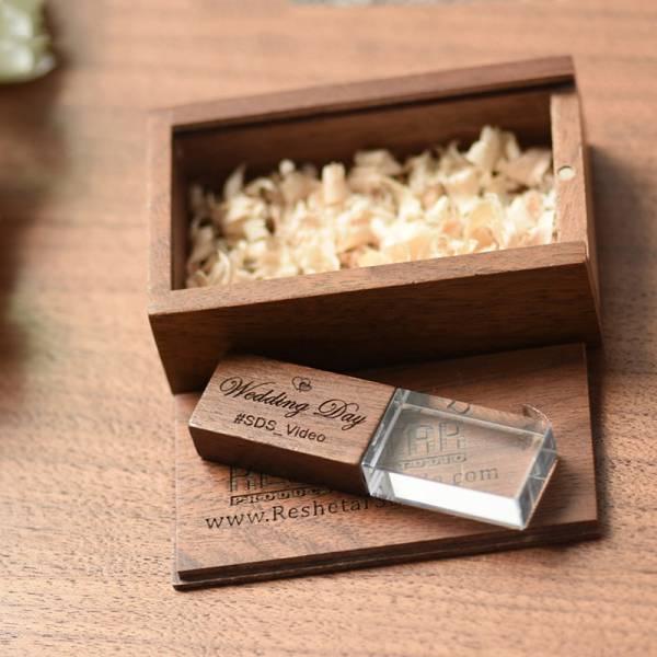 木質水晶雷雕隨身碟