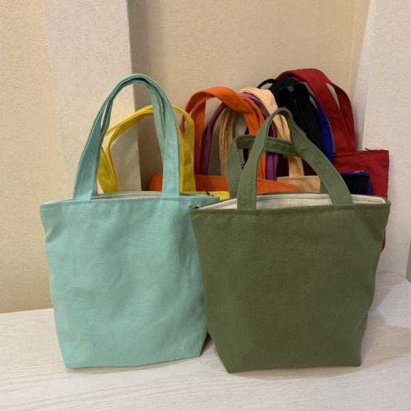 日式簡約帆布便當袋