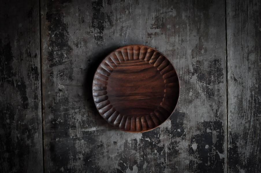 菊紋手刻盤