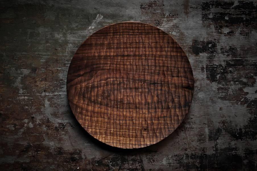 水紋手刻圓盤