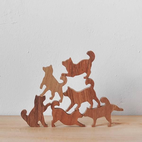 柴犬疊疊樂-粉藍款