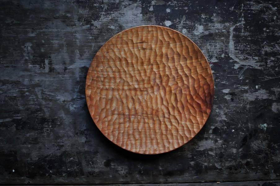 六角紋手刻盤
