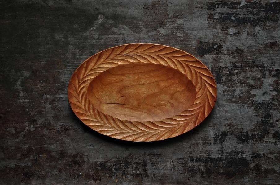 飛鳥紋橢圓盤