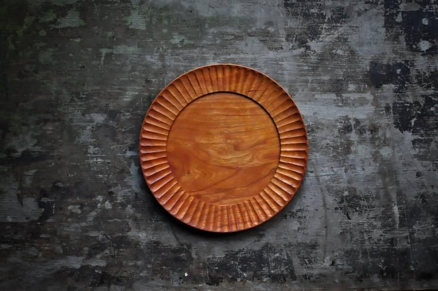 菊紋雙層手刻盤