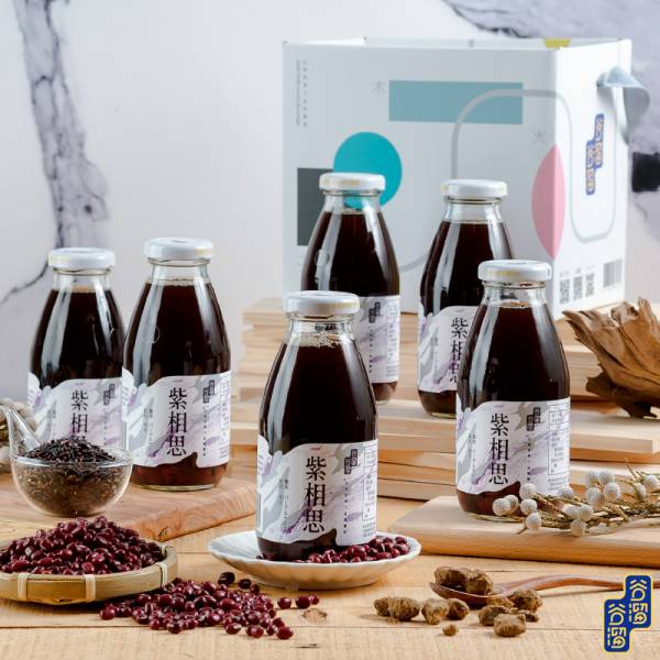 紫相思(6入紫米紅豆) 紫相思,日式紫米紅豆,日式,日本料理,紫米,紅豆,黃金比例,完美比例,暖心聖品,玻璃瓶飲品,低糖,黑糖,無添加