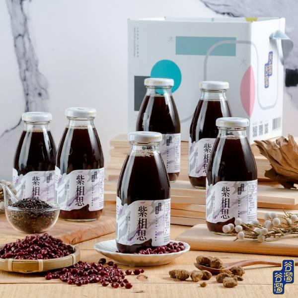 紫相思禮盒(6入紫米紅豆) 紫相思,日式紫米紅豆,日式,日本料理,紫米,紅豆,黃金比例,完美比例,暖心聖品,玻璃瓶飲品,低糖,黑糖,無添加