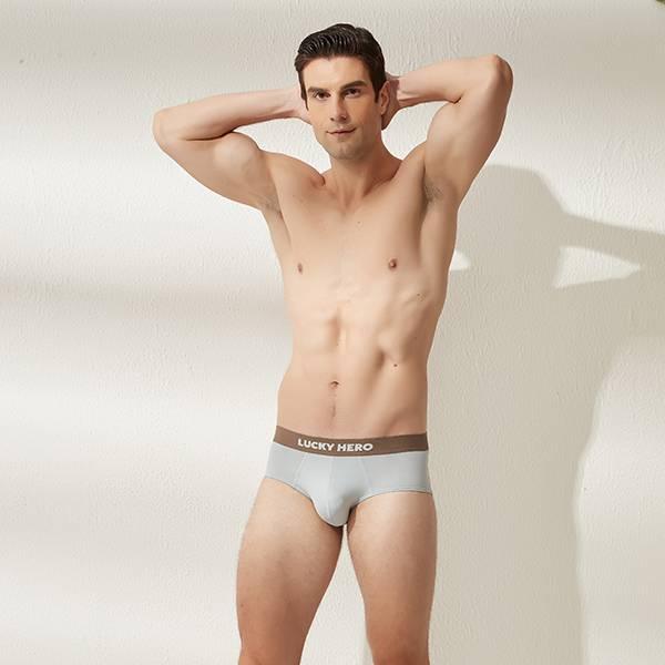拼色男三角褲 可可/霧藍 超透氣,男士內褲,男性內褲,四角內褲,