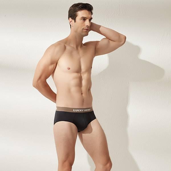 拼色男三角褲 可可/黑 超透氣,男士內褲,男性內褲,四角內褲,