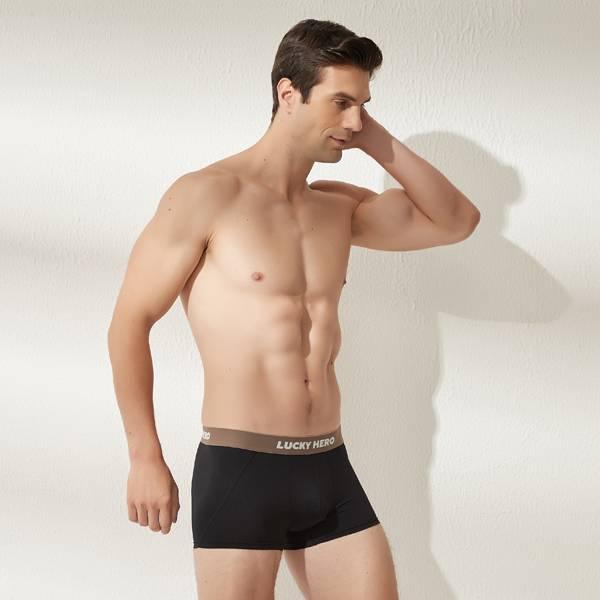 拼色男四角褲 可可/黑 超透氣,男士內褲,男性內褲,四角內褲,
