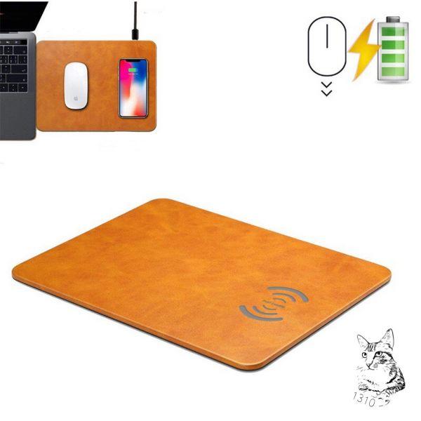 無線充電滑鼠墊(10W/7.5W) 棕