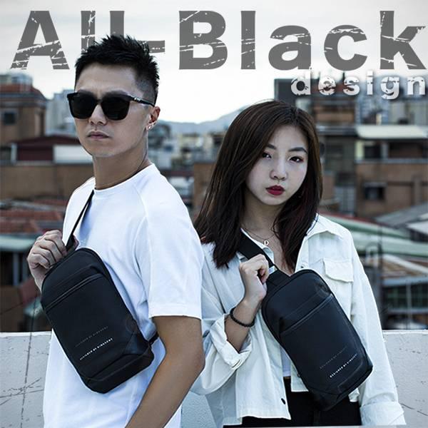 年末限降>>All-Black Design 貼身機能防盜胸包