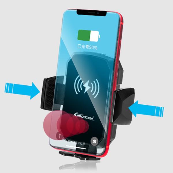 【安伯特】 ABT-A069 無線充電手機架 紅外線自動收合 台灣製造認證保證智慧感應彈力出風口手機架 無線充電手機架 紅外線自動收合 台灣製造認證保證智慧感應彈力出風口手機架