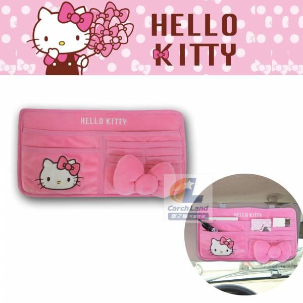 Hello Kitty 凱蒂貓 KT蝴蝶結系列-多功能遮陽板置物夾 PKTD008W-03 Hello Kitty 凱蒂貓 KT蝴蝶結系列-多功能遮陽板置物夾 PKTD008W-03