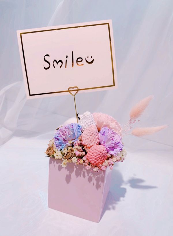 smile微笑燙金卡片(背面可寫字) 歐美簡約風卡片