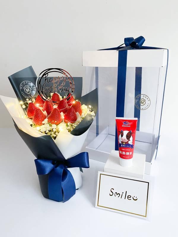 【NEW!生日超值全餐】經典法式草莓花束禮盒組 情人節花束,草莓花束,情人節禮物