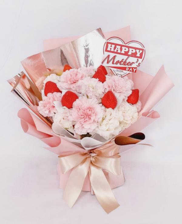 【母親節期間限定】璀燦媽咪康乃馨草莓花束 母親節花束,草莓花束