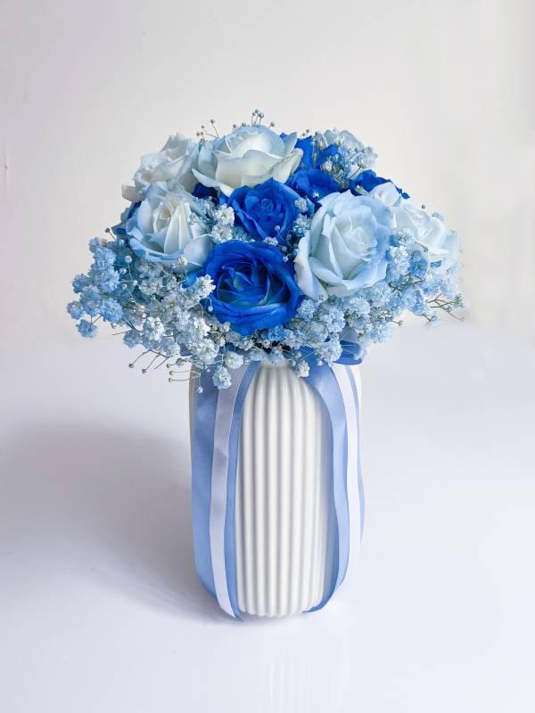 空氣感藍色系捧花 新娘捧花