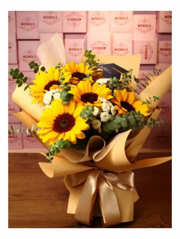 【送給畢業生】Best Wish向日葵花束大型 生日花束,告白花束,鮮花花束