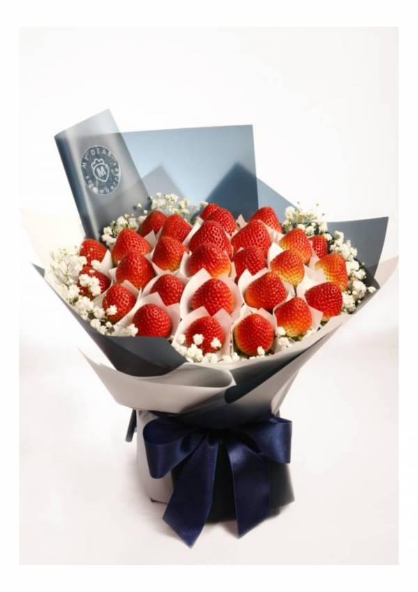 【人氣熱銷款】Je t'aime法式草莓花束 草莓花束,生日禮物,情人節花束,求婚花束