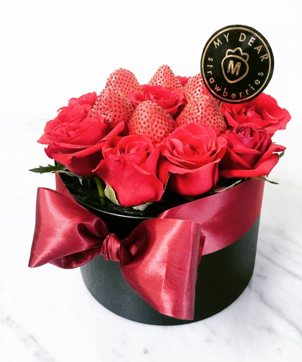 黑色之戀草莓盆禮 草莓盆花,生日盆花禮