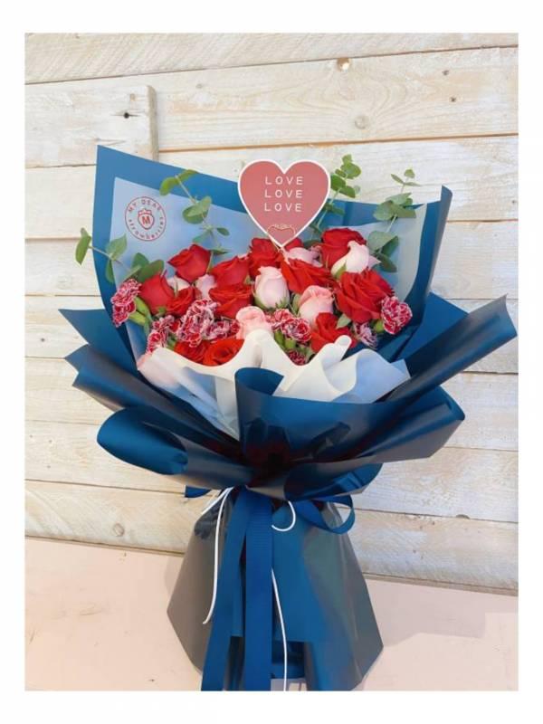 【鮮花花束】法式雙色玫瑰 玫瑰花束,巨型花束,求婚花束,告白花束