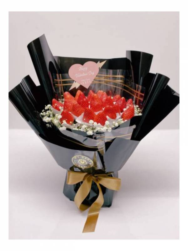 黑色之戀草莓花束大型 草莓花束