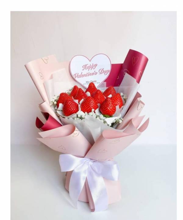 【情人節限定】So Heart♡情人節草莓花束小型 情人節花束,草莓花束,情人節禮物
