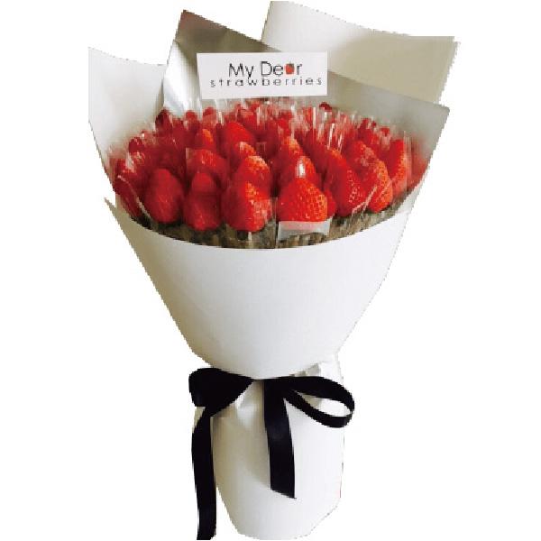 經典白草莓花束(50顆) 求婚花束,告白花束,草莓花束