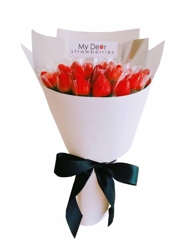 經典白草莓花束(30顆) 求婚花束,告白花束,草莓花束