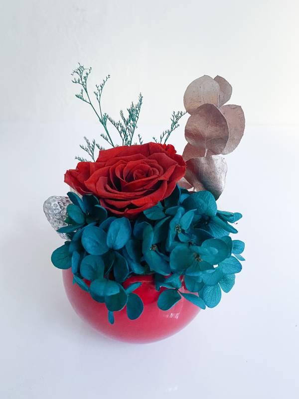【永恆花】皇后小莊園 永生花盆,永生玫瑰