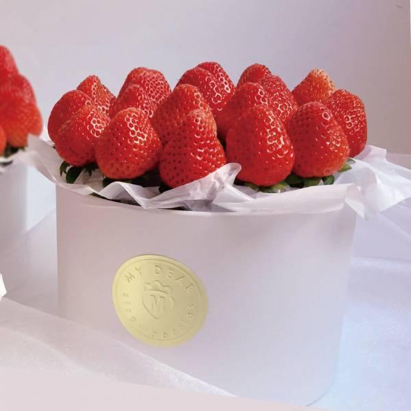 草莓抱抱桶 大 草莓花束,生日禮物,情人節花束,求婚花束