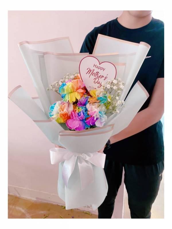超級限定!美國UNICORN康乃馨花束 康乃馨花束,巨型花束,求婚花束,告白花束,母親節花束