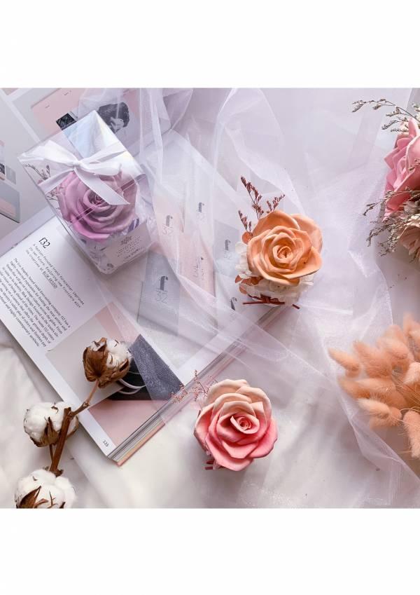 【療癒系小物】超人氣雙色玫瑰擴香花(含5ml精油小蒼蘭味) 擴香盆, 香氛盆, 擴香花