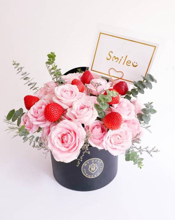 【十一月新品】坡坡里草莓花園盆花禮 草莓盆花,生日盆花禮