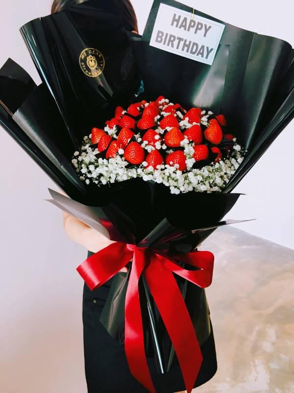 520草莓花束 求婚花束,告白花束,草莓花束