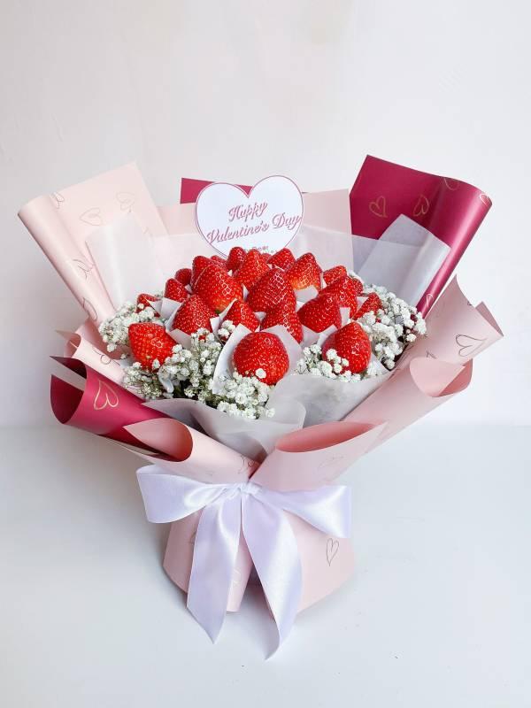 【情人節限定】So Heart♡情人節草莓花束大型 情人節花束,草莓花束,情人節禮物