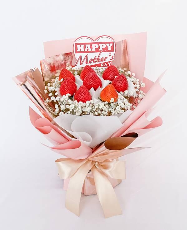 【母親節期間限定】璀燦媽咪草莓花束 母親節花束,草莓花束