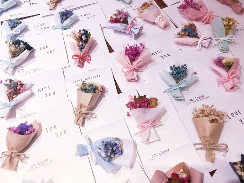 韓式乾燥花卡片(隨機出貨) 韓式乾燥花卡片