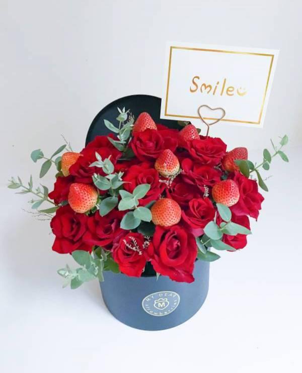 黑色之戀草莓盆花禮2.0 草莓盆花,生日盆花禮