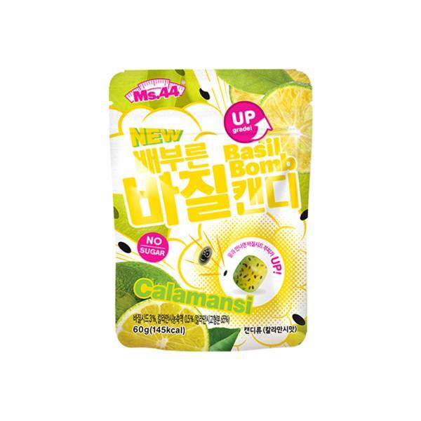 【Ms.44】飽腹感羅勒籽糖 -柑橘口味 60g