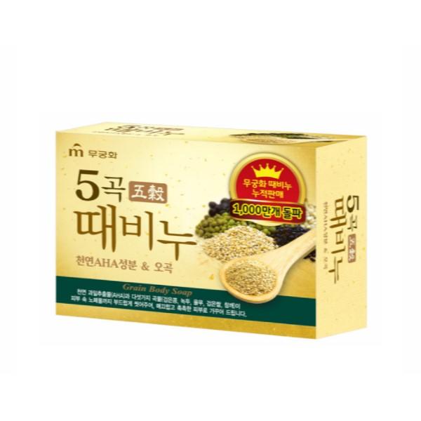 【木槿花】五穀身體去角質香皂 100g