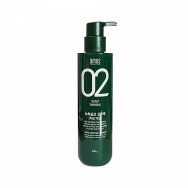 【AMOS】綠茶頭皮護理洗髮精 (油性用) 500g