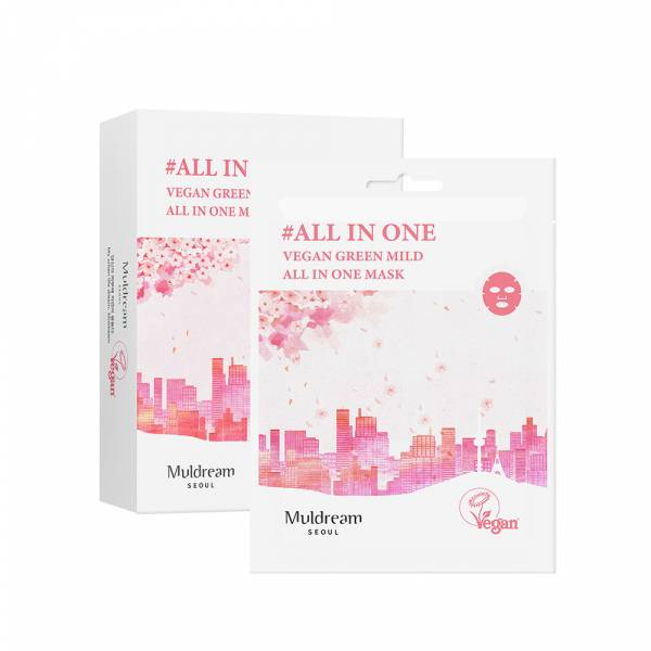 【muldream】全方位舒緩潤澤面膜(粉色) 10入/盒