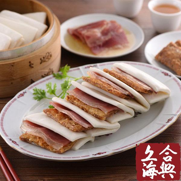 (年菜預購)【南門合興糕糰店】蜜汁火腿烤麩4組(700g±5%,12份/組)